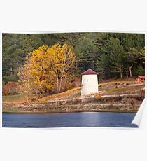 Windmill At Autumn At Cubuk Lake, Turkey Poster