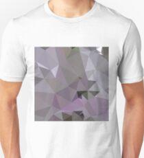 Antiker Fuchsien-purpurroter abstrakter niedriger Polygon-Hintergrund Slim Fit T-Shirt