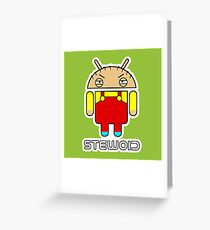 Stewoid Greeting Card