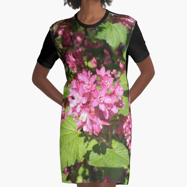 Currant flowers ... Graphic T-Shirt Dress