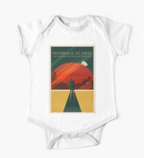 Moons of Mars Travel Poster One Piece - Short Sleeve