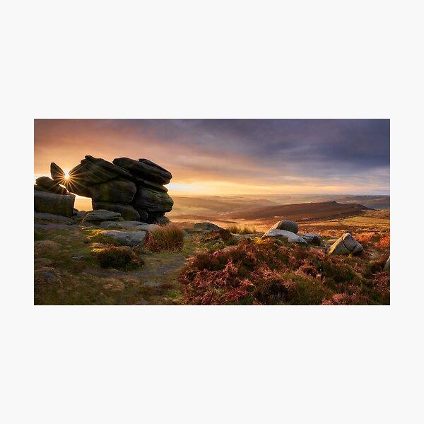 Sun Star on Higger Tor, The Peak District Photographic Print