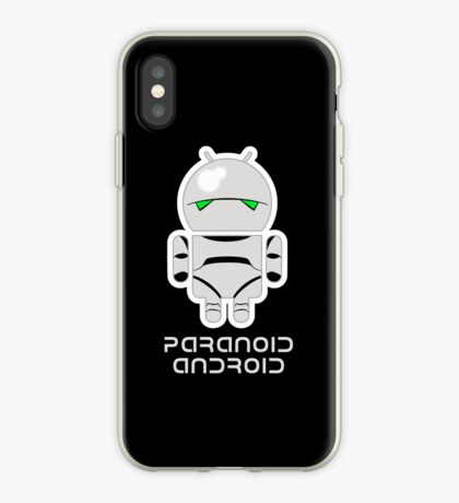 PARANOID ANDROID iPhone Case