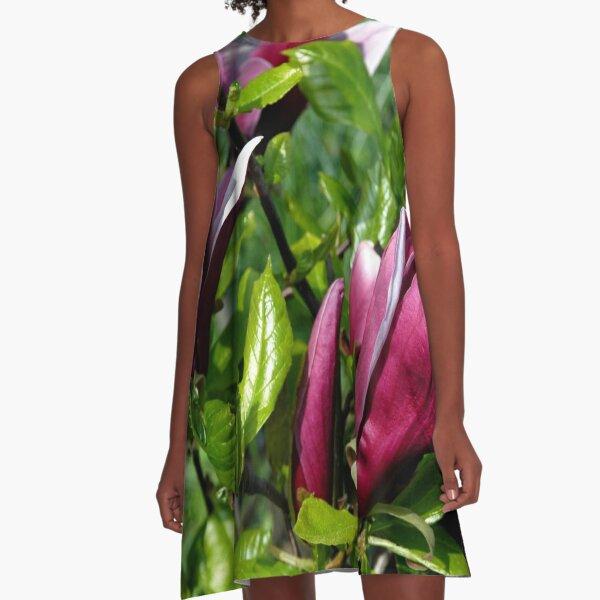 Red magnolia ... A-Line Dress