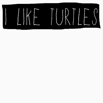 I LIKE TURTLES by MScasuals
