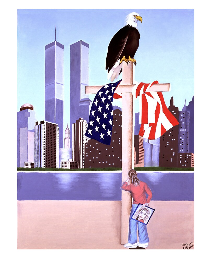 September 11th 2001- (God is our refuge: pslam 121) by Troy Guillory