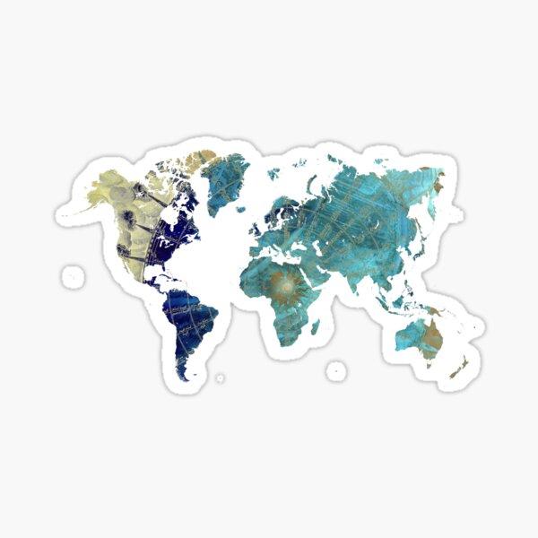 Mapa del mundo rosa de los vientos #map #worldmap Pegatina