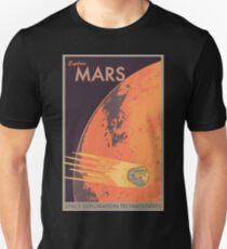Explore Mars Travel Poster Unisex T-Shirt