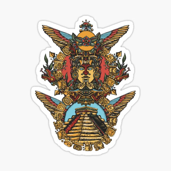 Totem and pyramids Sticker