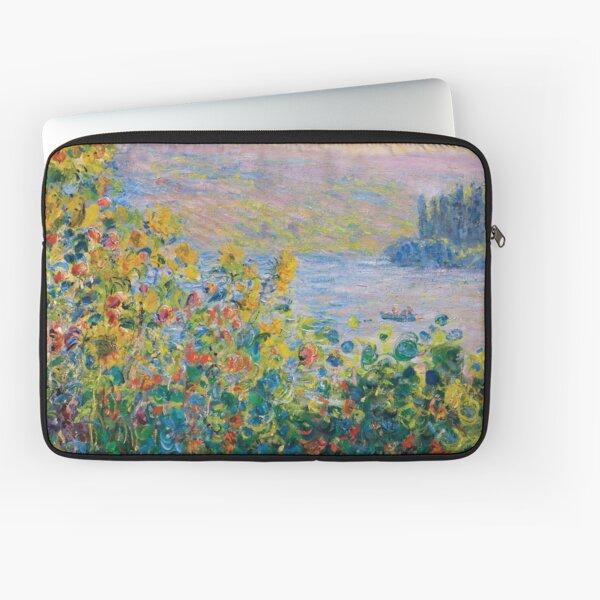 Claude Monet - Flower Beds at Vétheuil Laptop Sleeve
