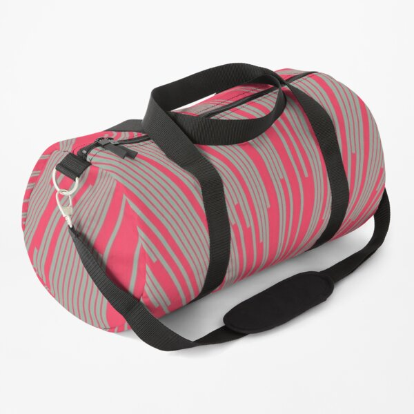Abstract Lines Background Duffle Bag