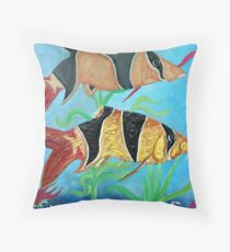 Clown Loach Throw Pillow