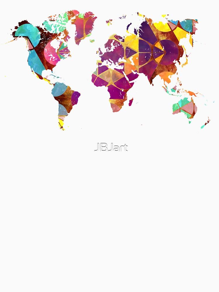 Map of the world geometric colored #map #worldmap by JBJart