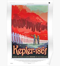 Space Travel Poster - Kepler-186f Poster