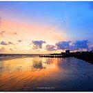 sunset beach by martbarras