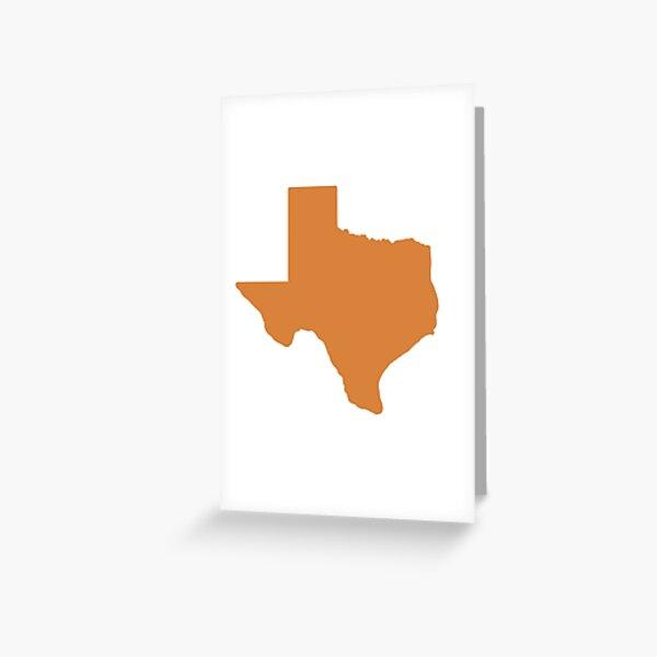 Burnt Orange Texas Greeting Card
