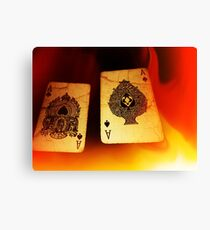 Aces of Fire Canvas Print