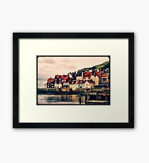 Retro Whitby Painting look Framed Print