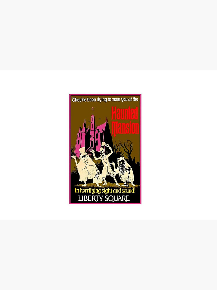 HAUNTED MANSION : Vintage Liberty Square Advertising Print by posterbobs