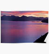 Sunset Marlborough Sounds Poster