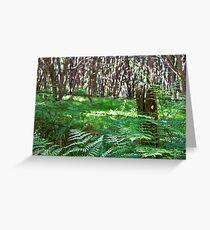 Fence post, fern and manuka Greeting Card