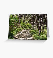Native bush and winding road, New Zealand Greeting Card