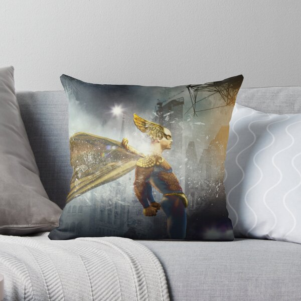 A Superhero Mission Throw Pillow