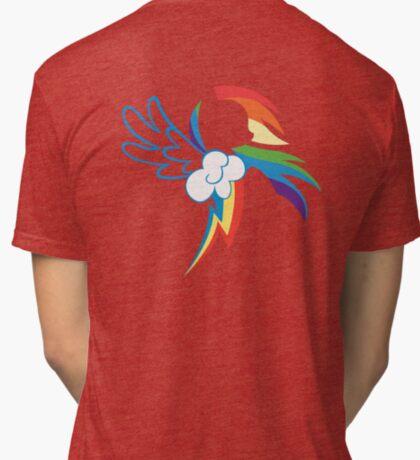 The Dash mark - WHITE Tri-blend T-Shirt