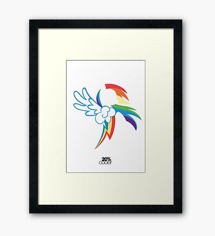 The Dash mark - WHITE Framed Print