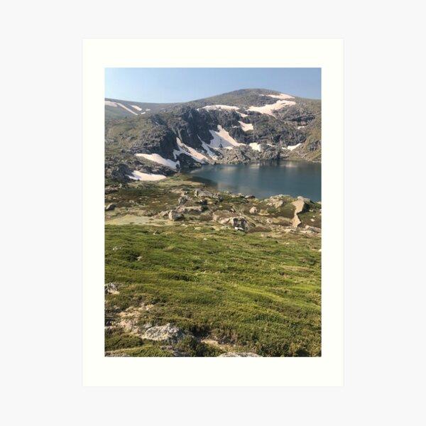Glacial lake Art Print