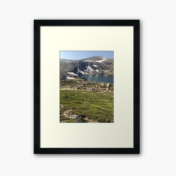 Glacial lake Framed Art Print