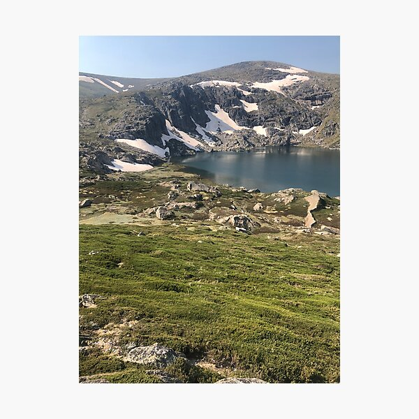 Glacial lake Photographic Print