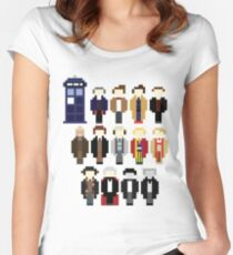 Pixel Doctor Who Regenerations Women's Fitted Scoop T-Shirt