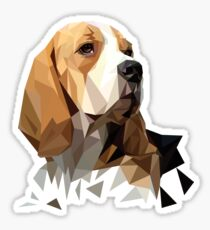 Beagle Hunting Dog Head Sticker
