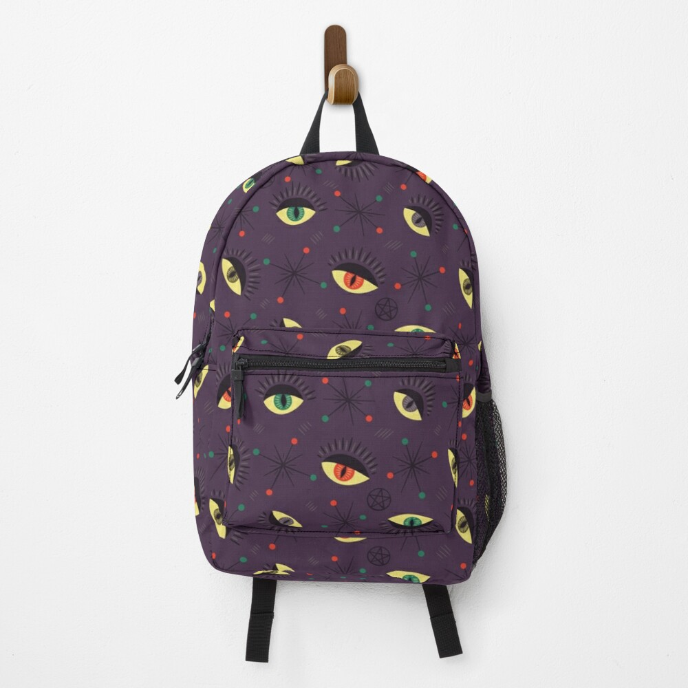 Reptile witch eyes retro pattern  Backpack