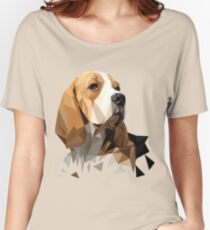 Beagle Hunting Dog Head Women's Relaxed Fit T-Shirt