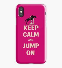 Keep Calm and Jump On Horse iPhone, iPod or iPad Case iPhone Case