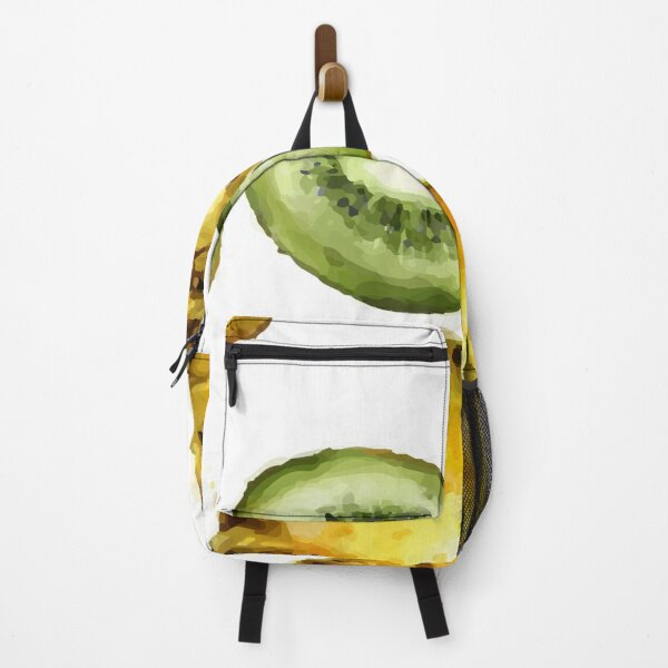 Watercolor of pattern of kiwi and pineapple Backpack