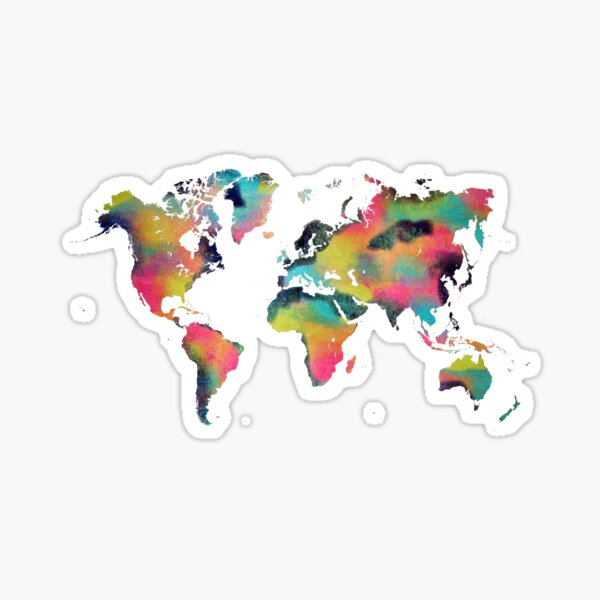 World map 4 Sticker