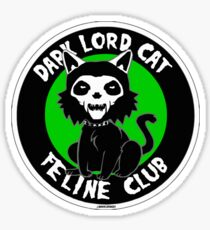 Dark Lord Cat Feline Club Sticker