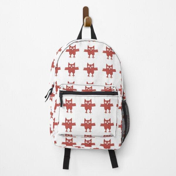 Red Owl Illustration Backpack