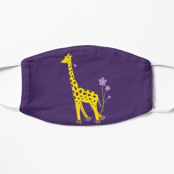 Purple Cartoon Funny Giraffe Roller Skating Mask