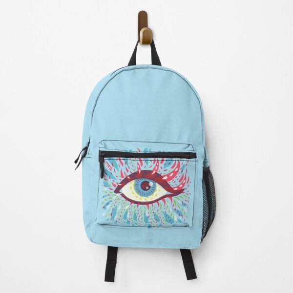 Weird Blue Psychedelic Eye Backpack