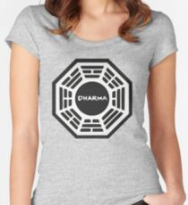 LOST: Dharma Logo Women's Fitted Scoop T-Shirt