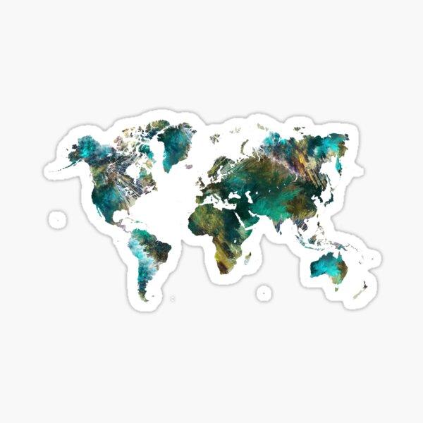 World Map tree #worldmap #map Sticker