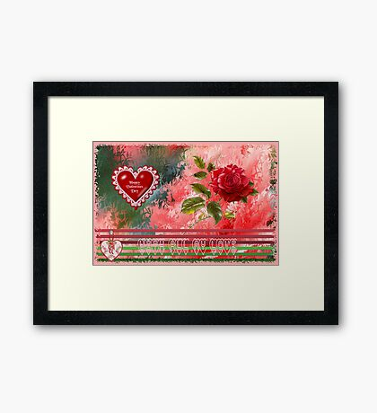 Happy Valentines Day Card Framed Print