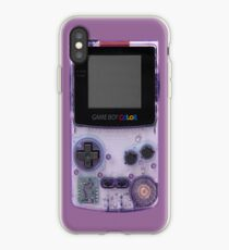 Gameboy Purple iPhone-Hülle & Cover