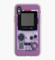 Vinilo o funda para iPhone Gameboy Purple