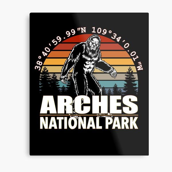 Arches National Park Bigfoot with GPS Location Metal Print