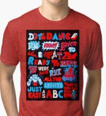Justice DANCE Lyrics by So Me Tri-blend T-Shirt